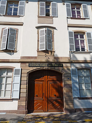 Consistory (Protestantism) - EPCAAL's Supreme Consistory in Strasbourg