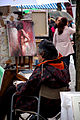 Street artists on the Place du Tertre, Paris December 2009 003.jpg