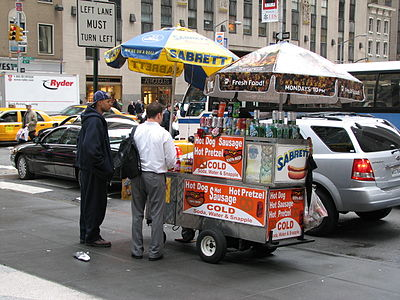 One of the many, many food carts in the city
