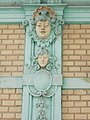 Stucco heads, 1 Prohászka Street, 2017 Bicske.jpg