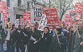 Student march for 'grants not fees', November, 2000.jpg