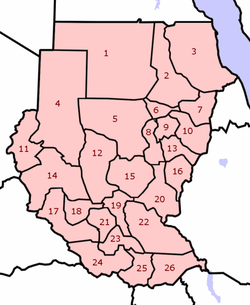 Sudan states numbered.png