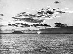 Sunset off Iwo Jima in February 1945.jpg