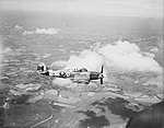 Supermarine Spitfire Mk XIV flown by the CO of No. 610 Squadron RAF, Squadron Leader R A Newbury, based at Friston, Sussex, 3 July 1944. CH13815.jpg