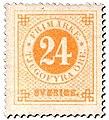 Swedish stamp 1872 24 Öre POST.054060.jpg