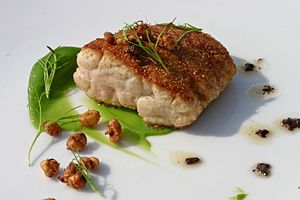 Sweetbread - A dish of crusted sweetbreads.
