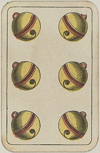 Swiss card deck - 1850 - 6 of Bells.jpg