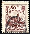 Switzerland Aarau 1908 revenue 80C - 18c.jpg