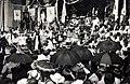 Szent István tér, Szent Jobb ünnepség a Szent István-templom előtt. A felvétel 1938. június 27.-én készült. Fortepan 100114.jpg
