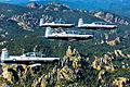 T-6A Texan II four-ship formation photo - Vance AFB.jpg