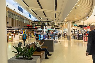 Sydney Airport - Duty-free shops at T1 International