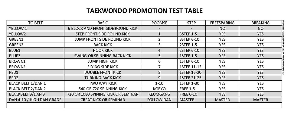 TAEKWONDO PROMOTION TEST TABLE.jpg