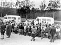 "TEHERAN CHILDREN"" AT THE ATLIT RAILWAY STATION, WAITING TO BE TRANSFERRED TO YOUTH VILLAGE IN THE COUNTRY. ""ילדי טהרן"" ממתינים בתחנת הרכבת של עתלית, לD550-113.jpg"