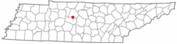 Location of Brentwood, Tennessee