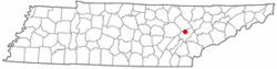 Location of Midtown, Tennessee