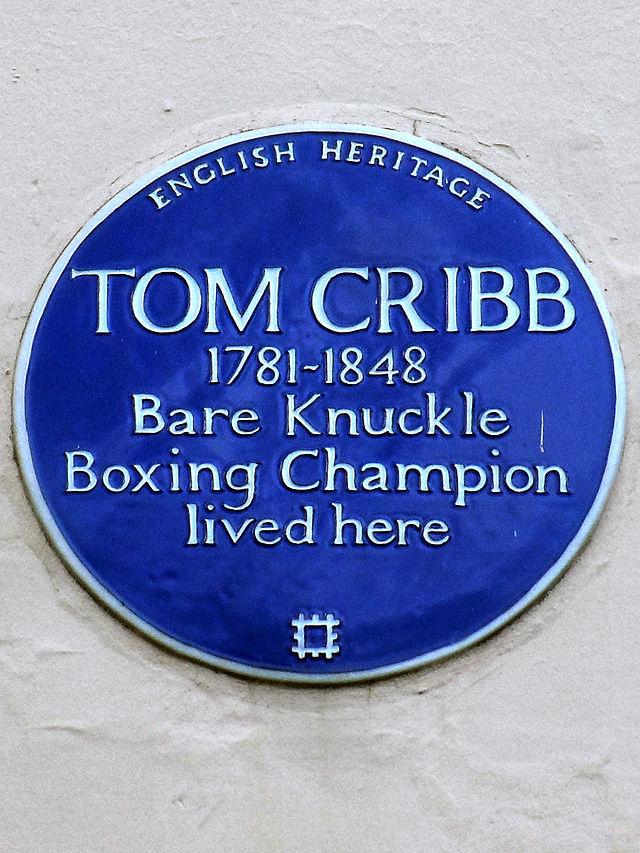 Photo of Tom Cribb blue plaque