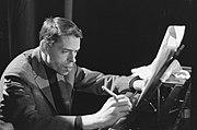 TV-uitzending Domino Jacques Brel tijdens de opname in Amsterdam, Marcanti, Bestanddeelnr 914-8399