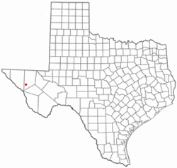 Location of Van Horn, Texas