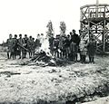 Tableau, uniform, scouting, camp fire, lookout Fortepan 76809.jpg