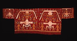 Chimú culture - Chimú Tapestry Shirt, 1400–1540, Camelid fiber and cotton. Dumbarton Oaks.