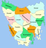 Tasmania cadastral divisions