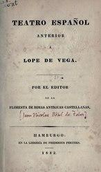 Juan Nicolás Böhl de Faber: Teatro Español anterior á Lope de Vega