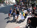 Tel Aviv, walking people.JPG