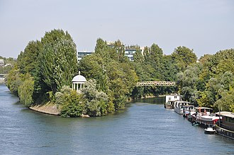 Île de la Jatte - View of La Grande Jatte Island from Neuilly Bridge