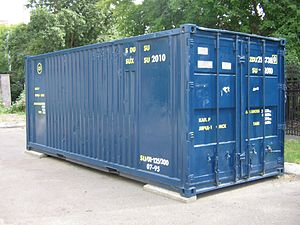English: A 20-foot long ISO container Русский:...