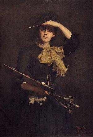 Thérèse Schwartze - Self-portrait at age 37