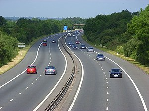 A329(M) motorway - A329(M) motorway near Wokingham