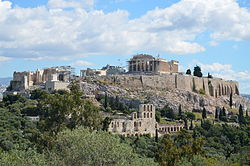 View of the Acropolis in