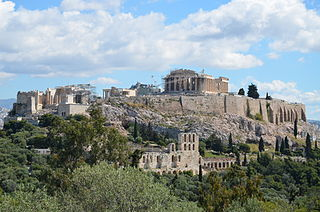Ancient citadel in Athens, Greece