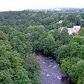 The Afon Dyfrdwy from the Pontcysyllte Aqueduct near Llangollen - geograph.org.uk - 1250766.jpg