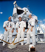 Apollo 12 – v. l. n. r. Charles Conrad, Richard Gordon, Alan Bean
