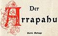 """The Arapaho book art - """"Der Arrapahu Vierte Auflage"""" art detail, from- Der Arrapahu (Kamerad-Bibliothek) (page 4 crop).jpg"""