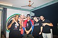 The Australian hip-hop group, MSON (Making Something Outta Nothing) backstage at the Darwin Street Art Festival 2021.jpg