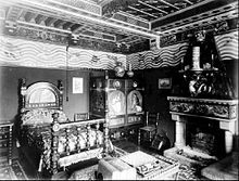 Photograph of William Burges's bedroom