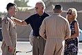 The Bidens visit with airmen on the flightline at Baghdad International Aiport, 2010.jpg