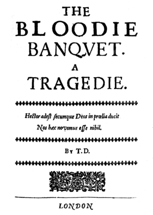 The Bloody Banquet - Title page of The Bloody Banquet