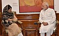 The Chief Minister of Jammu and Kashmir, Ms. Mehbooba Mufti meeting the Prime Minister, Shri Narendra Modi, in New Delhi on August 27, 2016.jpg