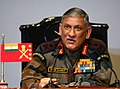 The Chief of Army Staff, General Bipin Rawat addressing the annual Army press conference as run up to Army Day 2017, in New Delhi on January 13, 2017.jpg