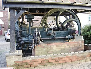 Gimingham - The preserved Crossley diesel engine