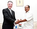 The Defence Minister, Shri A. K. Antony shaking hands with the Australian Defence Minister, Dr. Brendan Nelson, in New Delhi on July 11, 2007.jpg