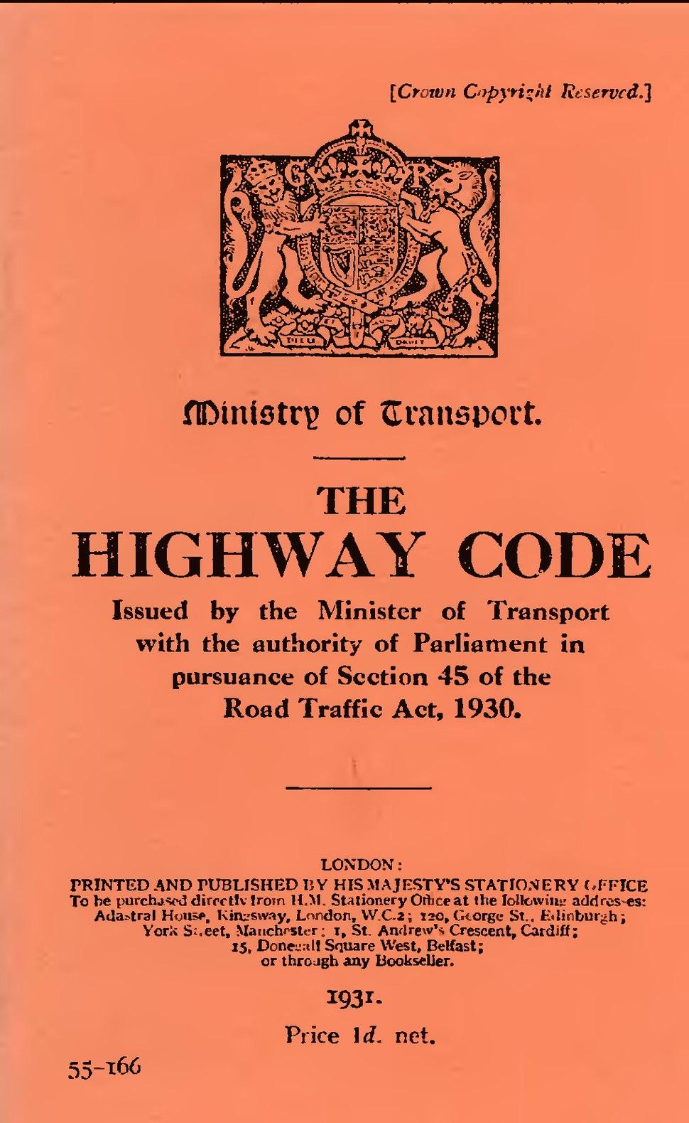 The Highway Code 1931.djvu