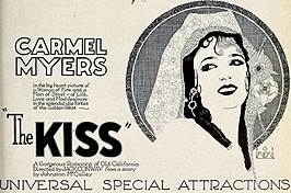 Advertentie voor The Kiss