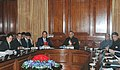 The Myanmar Home Minister, Major General Maung Oo along with a delegation meeting with the Union Home Minister, Shri Shivraj V. Patil, in New Delhi on December 21, 2006.jpg