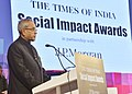 The President, Shri Pranab Mukherjee addressing at the Times of India Social Impact Awards presentation ceremony, in New Delhi on January 28, 2013.jpg