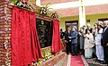 The Prime Minister, Dr. Manmohan Singh unveiling the plaque to inaugurate the Anantnag-Qazigund Rail Link, at Anantnag, in Jammu & Kashmir on October 28, 2009.jpg