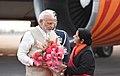 The Prime Minister, Shri Narendra Modi arrives at New Delhi after concluding his 4-day visit to Jordan, Palestine, UAE & Oman, on February 12, 2018 (1).jpg